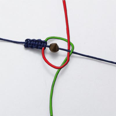 Схема плетения левого узла браслет шамбала