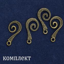 Комплект бронзовых крючков (без петелек) 4 шт.