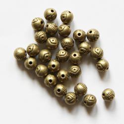 Бусины бронзовые с орнаментом 6 мм