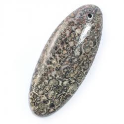 Овальный кулон из леопардовой яшмы