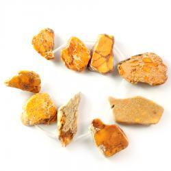 Комплект оранжевых бусин из варисцита