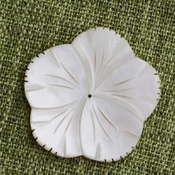 Резные цветы из перламутра 40 мм.