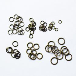 Колечки простые (бронза) 5 мм., комплект 10 шт.
