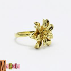 Колечко детское золотой цветок