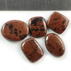 Комплект кабошонов из обсидиана