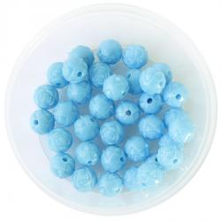 комплект круглых пластиковых бусин - розочек