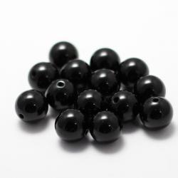 Круглые черные бусины 7 мм