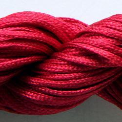 Шнур нейлоновый для рукоделия бордовый