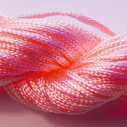 Шнур нейлоновый для рукоделия, розовый