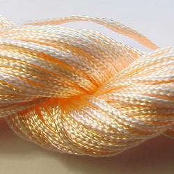 Шнур нейлоновый для рукоделия, светло-оранжевый
