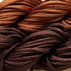 Шнур нейлоновый для рукоделия коричневый