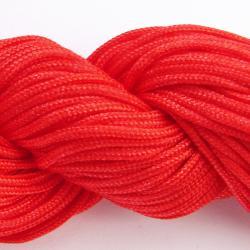 Шнур нейлоновый для рукоделия, красный