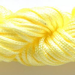 Шнур нейлоновый для рукоделия желтый