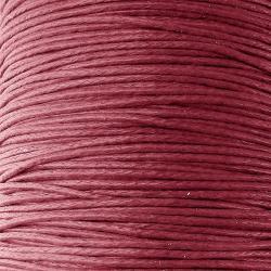 Шнур вощеный темно красный для плетения