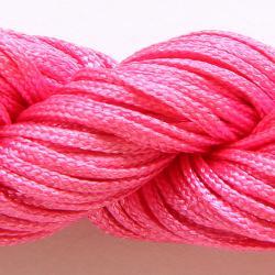 Шнур нейлоновый для рукоделия ярко розовый