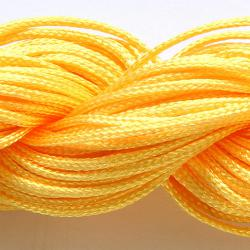 Шнур нейлоновый для рукоделия ярко желтый