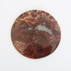 Кабошон из яшмы круглый