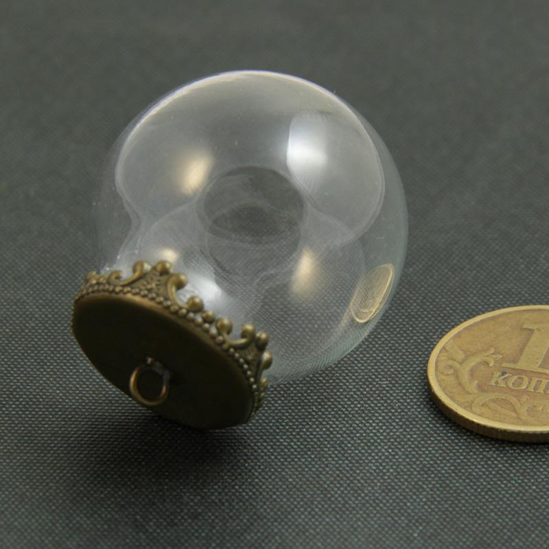 Кулоны пузыри из прозрачного стекла